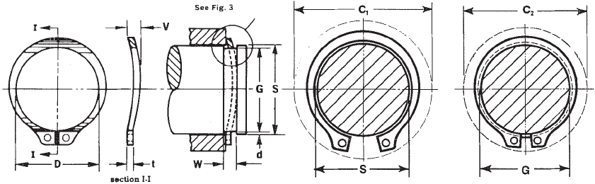 Metric Retaining Rings Wire Metric Snap Ring Dimensions Wire Diagrams