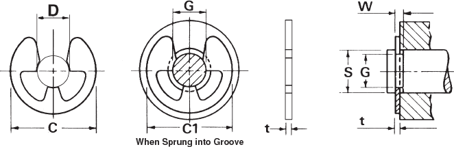 Internal Retaining Ring ID 12 mm